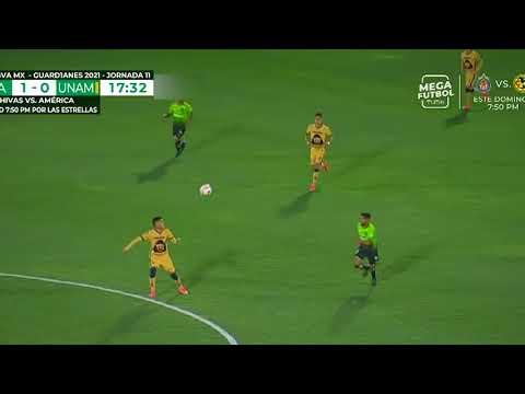 Gol de M. García   FC Juárez 1 - 0 Pumas   Liga BBVA MX - Guard1anes 2021 - Jornada 11