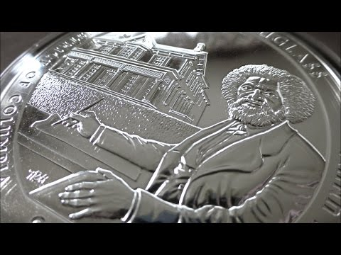 5 oz. Frederick Douglass silver coin
