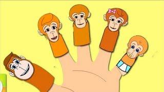 The Finger Family Monkey S Family Nursery Rhyme Kids Animation Songs For Children