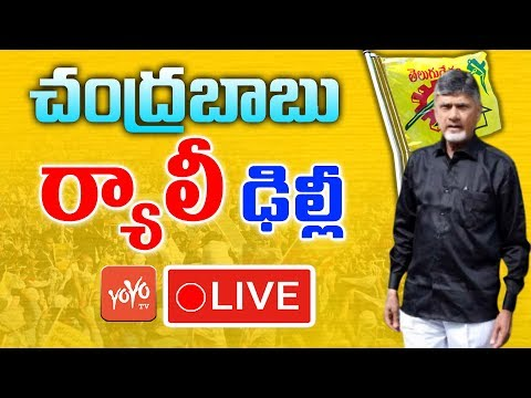 Chandrababu LIVE | Rally for the Special Status from AP Bhavan to Raj Bhavan | YOYO TV Channel