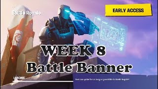 Week 8 Secret Battle Banner, Fortnite S6