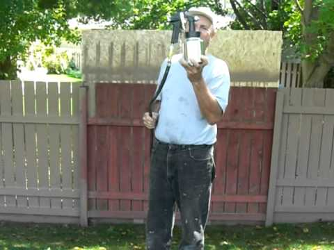 spray painting fence at 1500 newlands youtube. Black Bedroom Furniture Sets. Home Design Ideas