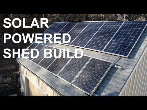 How we built a solar panel system on our backyard shed to reduce power bills.