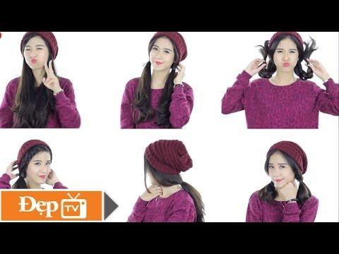 (Quick/Easy Hat Hairstyles) 6 kiểu tóc đẹp, đơn giản để đội mũ len - Le Media JSC [Official]