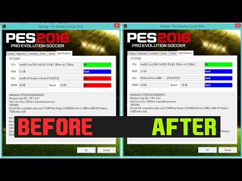 How to fix VRAM problem on Pro Evolution Soccer 2015/16/17/18/19