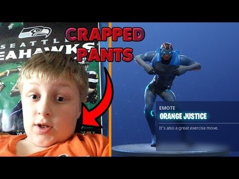 Orange Shirt Kid Reacts To Orange Justice Dance!
