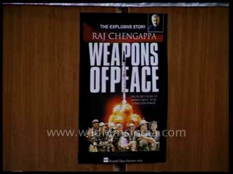 A book written by Raj Chengappa released by Dr. Raja Ramanna in olden days