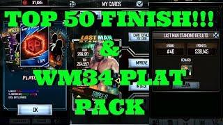 TOP 50 FINISH IN LMS!! & WM34 PLAT PACK!!   |    WWE Supercard #81 (Season 4)