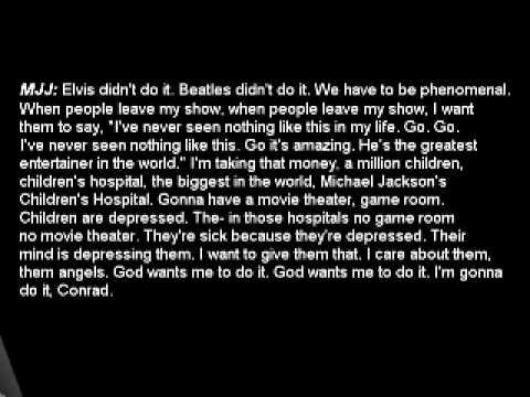 Michael Jackson's Audio Recording slurred speech