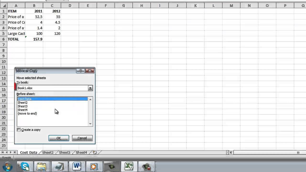 How to Copy Excel 2010 sheet to another sheet - YouTube