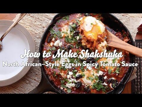 How to Make Shakshuka: North African-Style Poached Eggs with Spicy Tomato Sauce