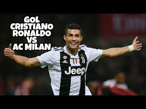 GOAL CRISTIANO RONALDO VS AC MILAN 2018 - HIGHLIGHTS HD - SERIE A LIGA ITALI