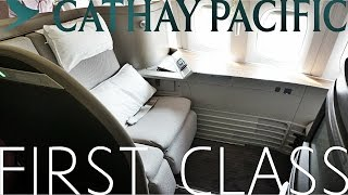 Cathay Pacific FIRST CLASS Hong Kong to London|Boeing 777-300ER