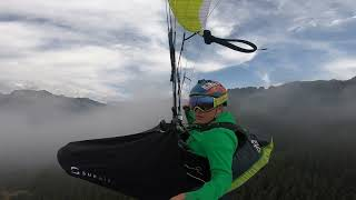 Amazing Paragliding Over The Clouds In France