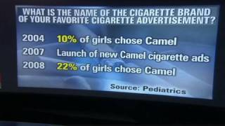 Is ad drawing girls to smoke?