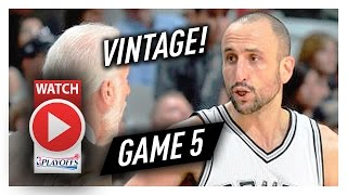 39 Yr-Old Manu Ginobili Game 5 Highlights vs Rockets 2017 Playoffs - 12 Pts, 7 Reb, 5 Ast, EPIC!