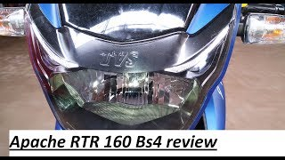Tvs apache blue RTR 160 Bs4 2017 review. Pros & cons, top speed, Real mileage. In Hindi. Check link