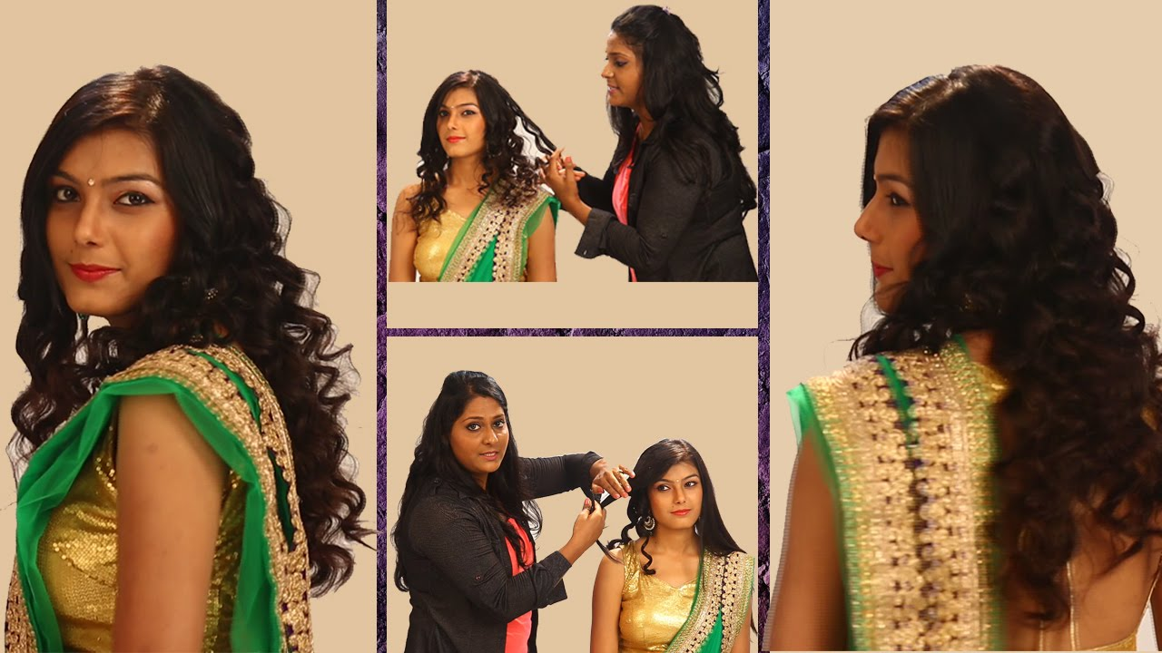 curls hairstyle for indian weddings | side curls haistyles | top best  indian hairstyle for saree