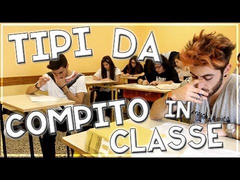 TIPI DA COMPITO IN CLASSE