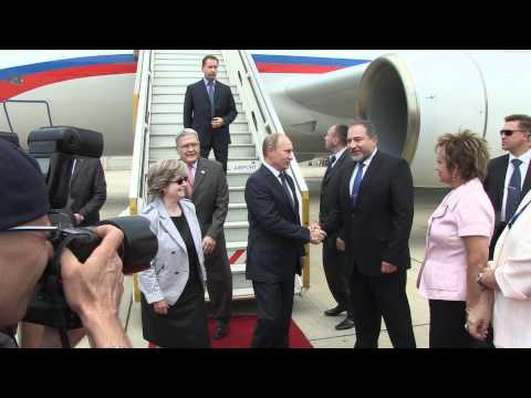 Russian presidential plane landing in Ben Gurion airport