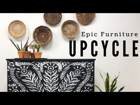 Epic Furniture Upcycle | The WINNER IS...| Painted Furniture Refinished DIY Home Decor | Boho Custom