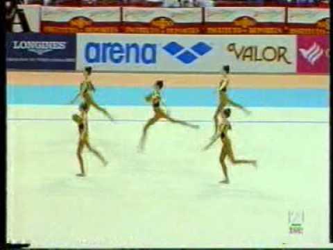 Gimnasia Ritmica- Mundial Sevilla 1998- Rusia 5 Pelotas