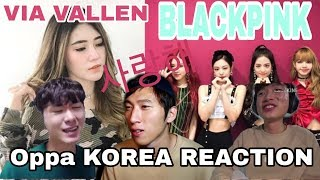 Gambar cover Reaction orang korea - via vallen cover blackpink