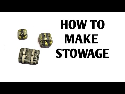 How to make Model Stowage / Bags