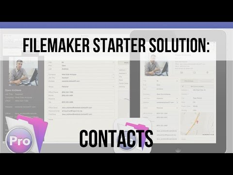 How does FileMaker's Contact Starter Solution work?