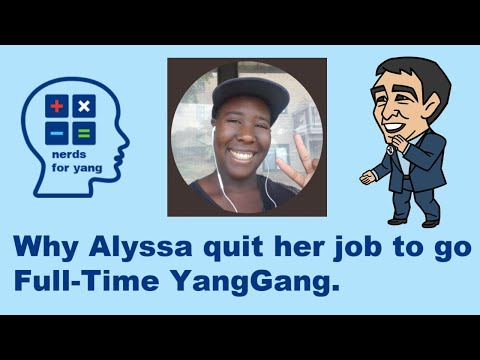 Download Why Alyssa Monet Mason quit her job to go full-time Yang Gang