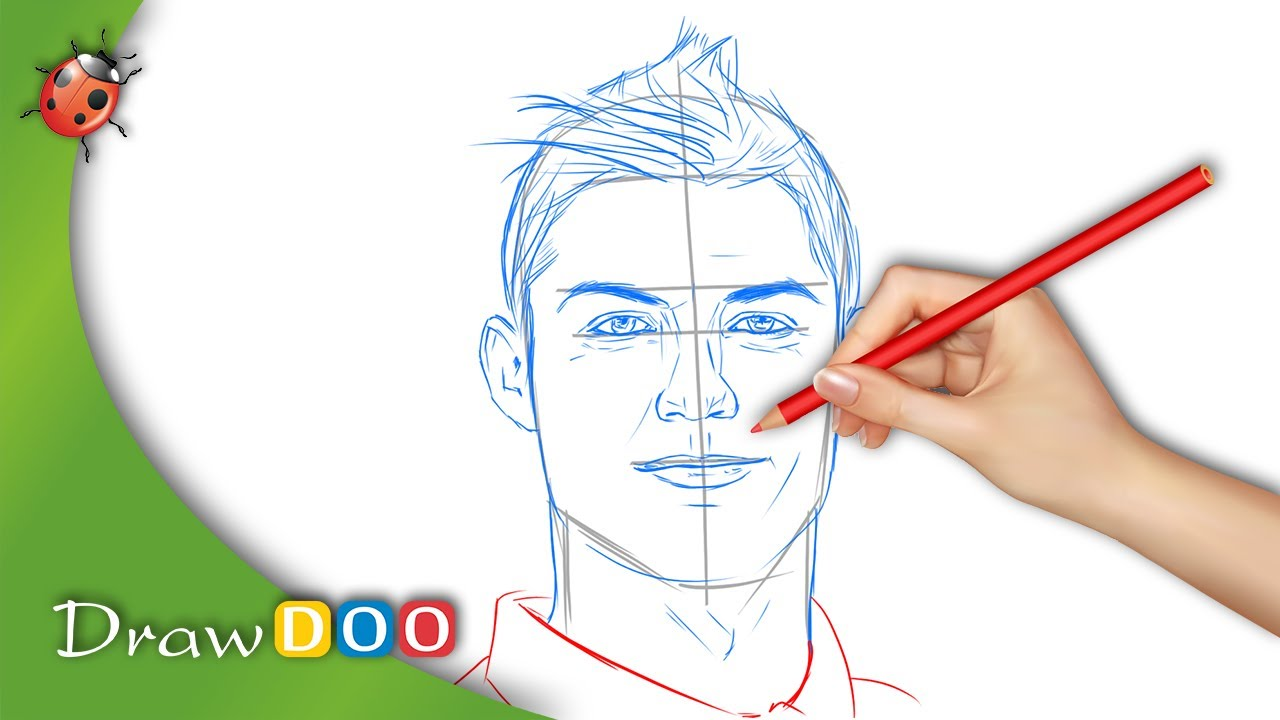 Cristiano Ronaldo From Real Madrid Drawing Tutorial Youtube