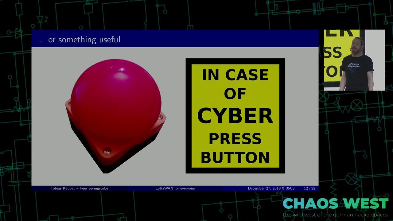 35C3 ChaosWest - Long range radio communication for everyone using LoRaWAN