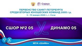 Хоккейный матч. 19.01.20. «СШОР №2 05» - «ДИНАМО 05»