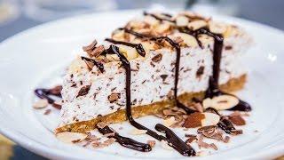 Home & Family - Stracciatella Tortoni Cake With Espresso Fudge Sauce Recipe