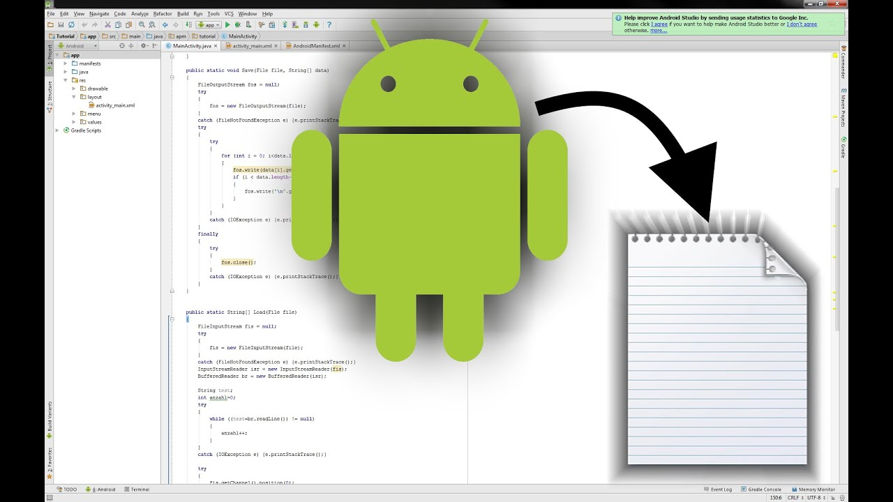 android java tutorial how to write and read txt files from your android application youtube
