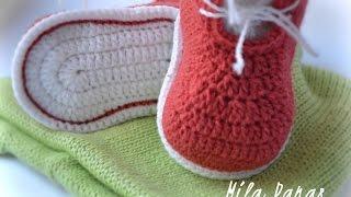 Подробное видео по вязанию стопы для пинеток крючком