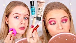 TESTING NEW REVOLUTION MAKEUP!! FOUNDATION, CONCEALER, POWDER, EYESHADOWS etc | sophdoesnails