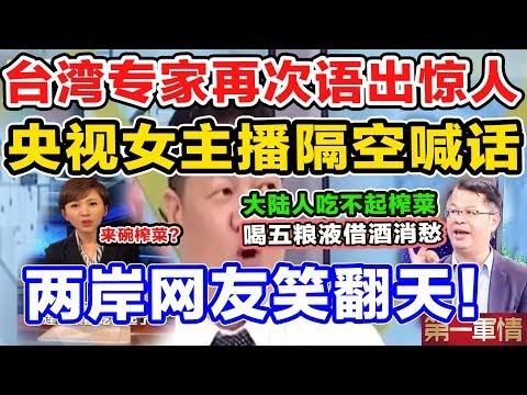 台湾专家再次语出惊人,央视女主播隔空喊话,两岸网友笑翻天!