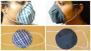 DIY NOSE FITTED CUP SHAPED MASK EASY PATTERN NO SUFFOCATION BREATHABLE HOMEMADE N 95 MASK