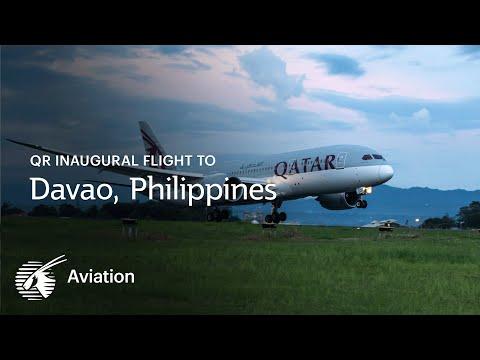 Qatar Airways' Inaugural Flight to Davao, Philippines
