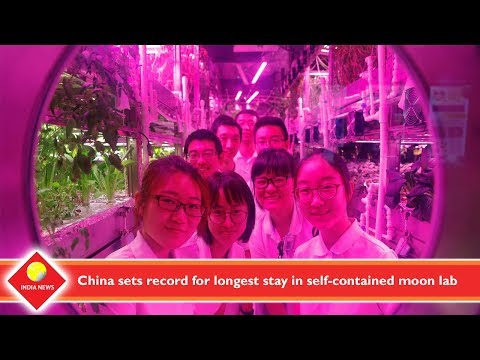 China sets record for longest stay in self contained moon lab