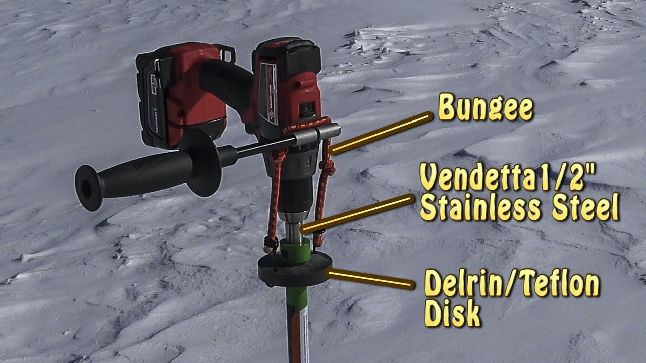Ice Fishing Drill Auger Adapter - DIY