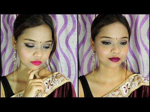 make-up-with-saree-  -saraswati-puja-special-  -sayantani-some