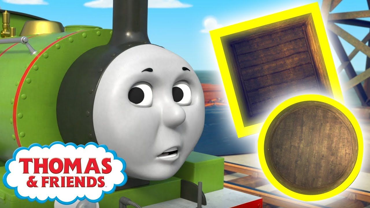 Thomas & Percy Learn About Shapes | BRAND NEW | Learn with Thomas | Cartoons for Kids