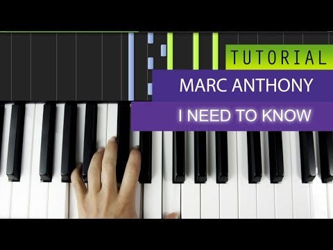 Marc Anthony - I Need To Know - Piano Tutorial