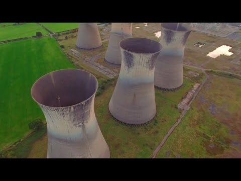 Exploring 5 HUGE ABANDONED Cooling Towers by Drone