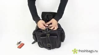 видео кожаный рюкзак на заказ
