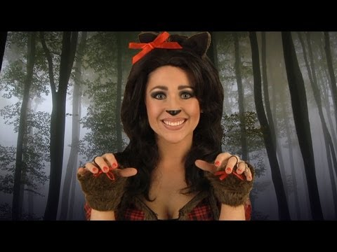Sexy Werewolf Costume Makeup Tutorial  sc 1 st  YouTube & Sexy Werewolf Costume Makeup Tutorial