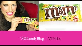 American Trying Asian Candy - Pineapple M&Ms Candy Review: New candy for 2015