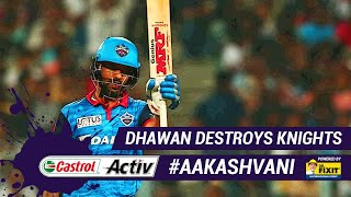#IPL2019: DHAWAN destroys KNIGHTS: 'Castrol Activ' #AakashVani, powered by 'Dr. Fixit'